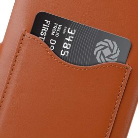 Premium Leather Card Slot Snap Cover for HTC U Ultra – (Brown CH)Ver.2