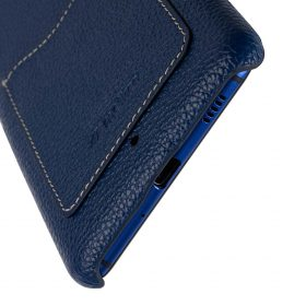 Premium Leather Card Slot Snap Cover for HTC U Ultra – (Dark Blue LC)Ver.2