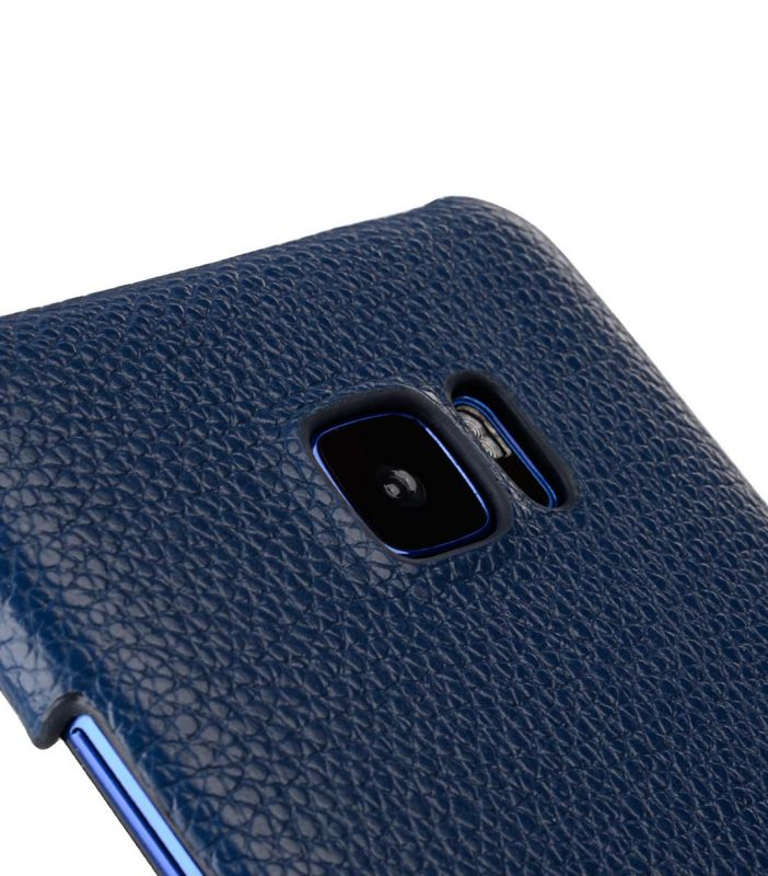 Premium Leather Card Slot Snap Cover for HTC U Ultra - (Dark Blue LC)Ver.2
