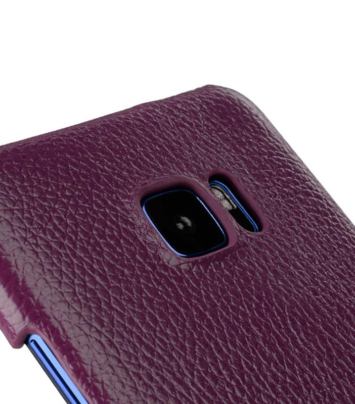 Premium Leather Card Slot Snap Cover for HTC U Ultra - (Purple LC)Ver.2