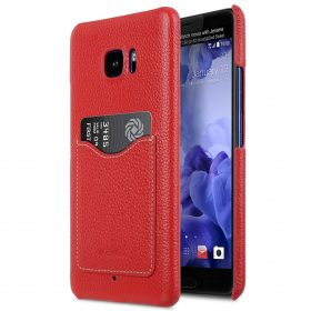 Premium Leather Card Slot Snap Cover for HTC U Ultra – (Red LC)Ver.2
