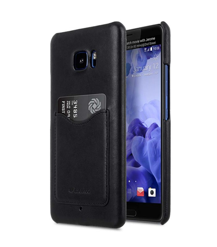 Premium Leather Card Slot Snap Cover for HTC U Ultra