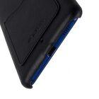Premium Leather Card Slot Snap Cover  for HTC U Ultra – (Vintage Black)Ver.2