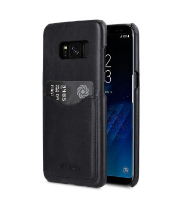 Melkco Premium Leather Case for Samsung Galaxy S8 - Card Slot Back Cover V2 ( Black )