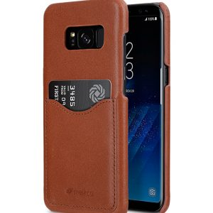 Premium Leather Case for Samsung Galaxy S8 - Card Slot Back Cover
