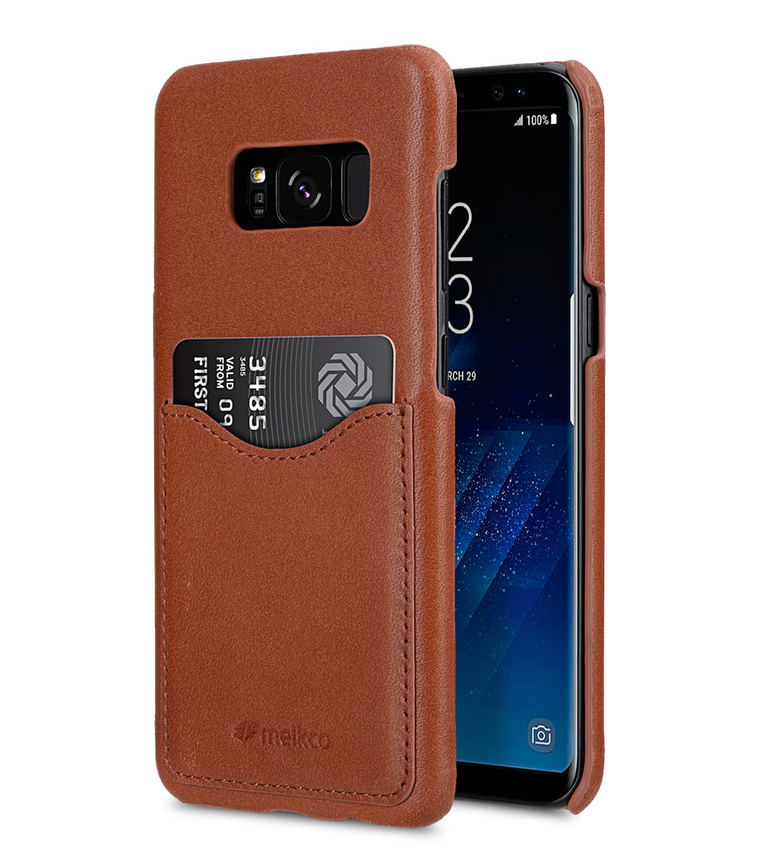 the best attitude 58f2d 048c9 Premium Leather Case for Samsung Galaxy S8 - Card Slot Back Cover