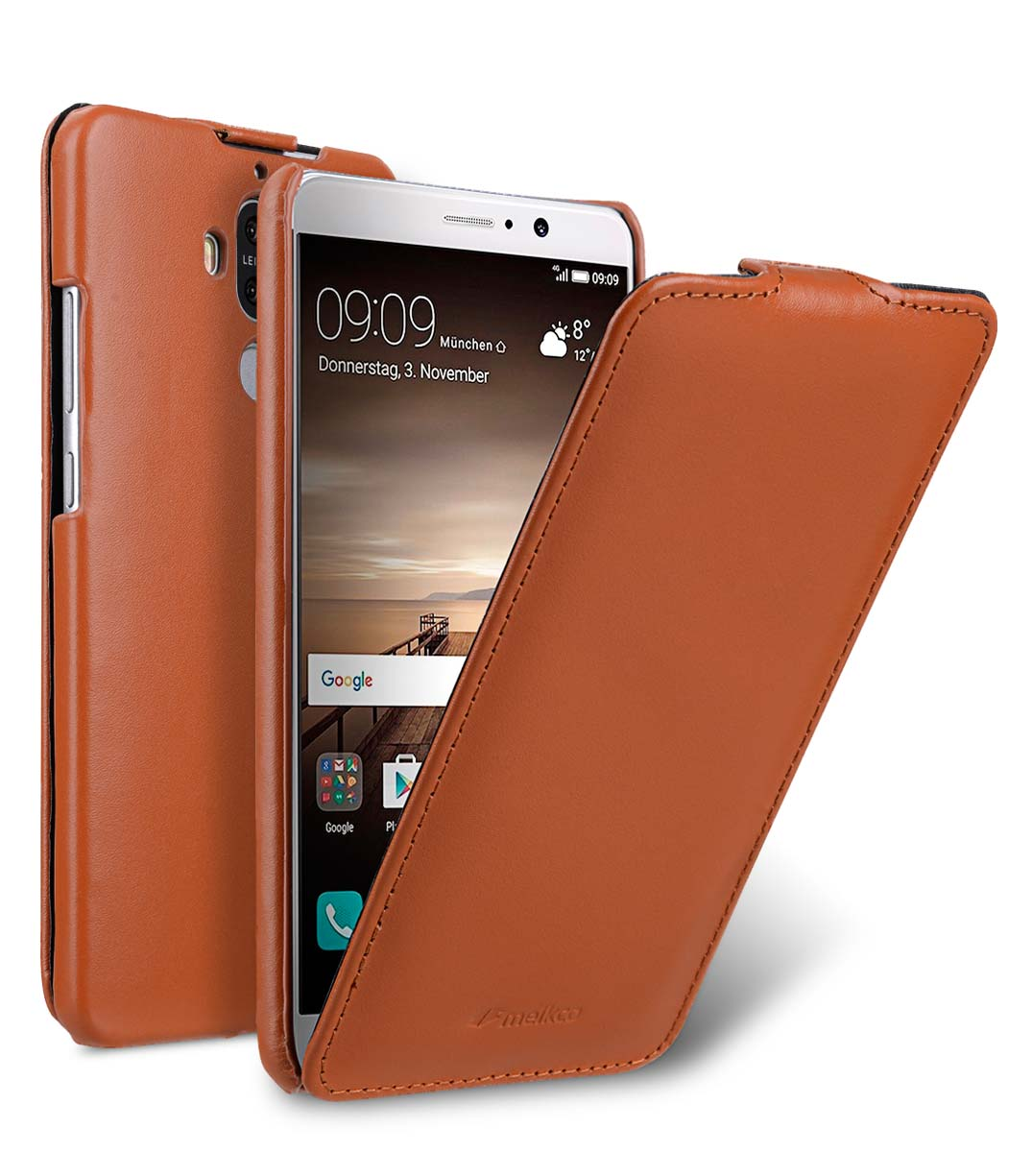 Premium Leather Case for Huawei Mate 9 - Jacka Type (Brown)