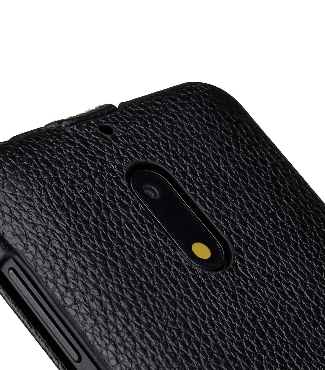 Premium Leather Case for Nokia 6 - Jacka Type (Black LC)
