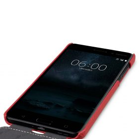 Premium Leather Case for Nokia 6 – Jacka Type (Red LC)