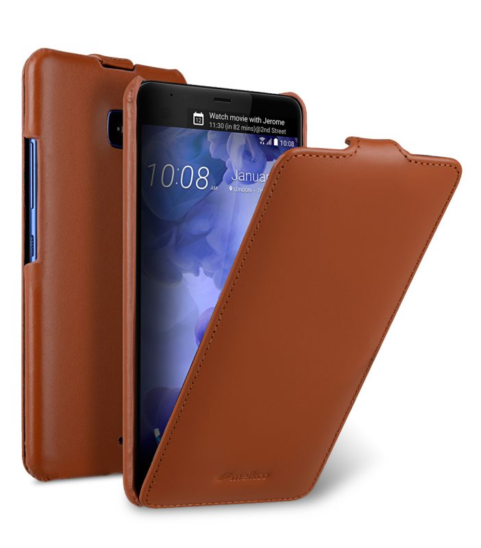 Melkco Premium Leather Case for HTC U Ultra - Jacka Type ( Brown )