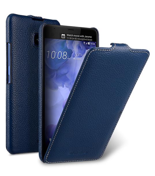 Melkco Premium Leather Case for HTC U Ultra - Jacka Type ( Dark Blue LC )
