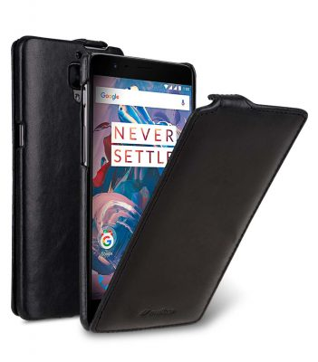 Premium Leather Case for One Plus 3 / 3T - Jacka Type (Vintage Black)