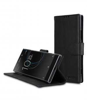 Premium Leather Case for Sony Xperia XA1 - Wallet Book Clear Type Stand