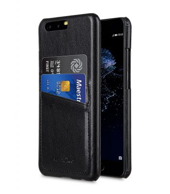 Melkco PU Leather Dual Card Slots Snap Cover for Huawei P10 - ( Black )