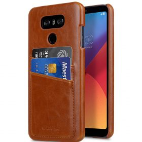 Melkco PU Leather Case for LG G6 – Dual Card Slots ( Brown CH )