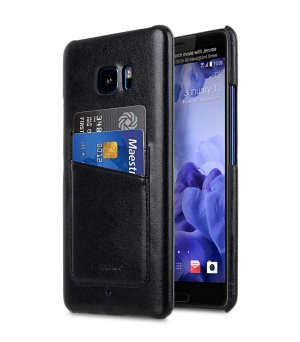 PU Leather Dual Card Slots Snap Cover for HTC U Ultra