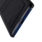 Mini PU Leather Dual Card Slots Snap Cover for HTC U Ultra – (Black PU)