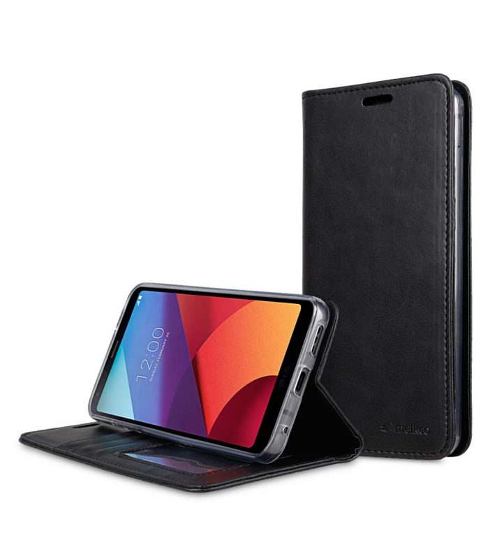 Book Type Series PU Leather Case for LG G6 - Livia Book Type (Black)