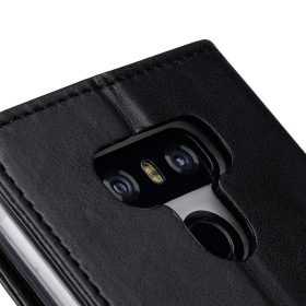 Book Type Series PU Leather Case for LG G6 – Livia Book Type (Black)
