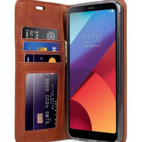 Book Type Series PU Leather Case for LG G6 – Livia Book Type (Brown)