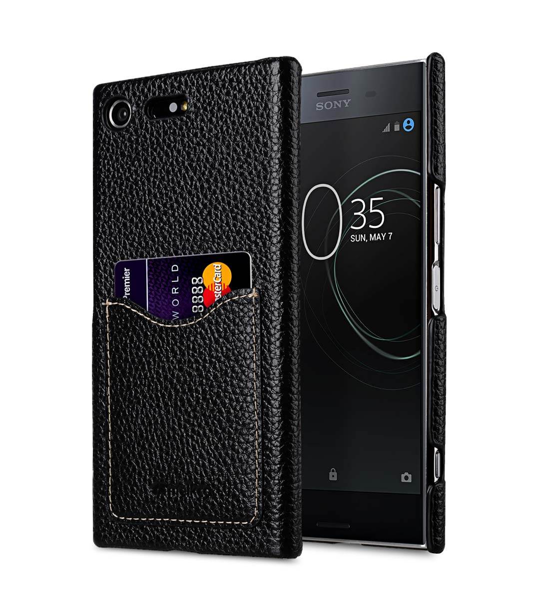 best service a06cf 83ca0 Premium Leather Card Slot Back Cover for Sony Xperia XZ Premium