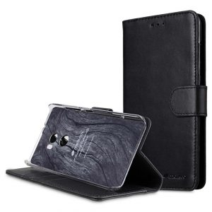 Premium Leather Case for HTC One X10 - Wallet Book Clear Type Stand
