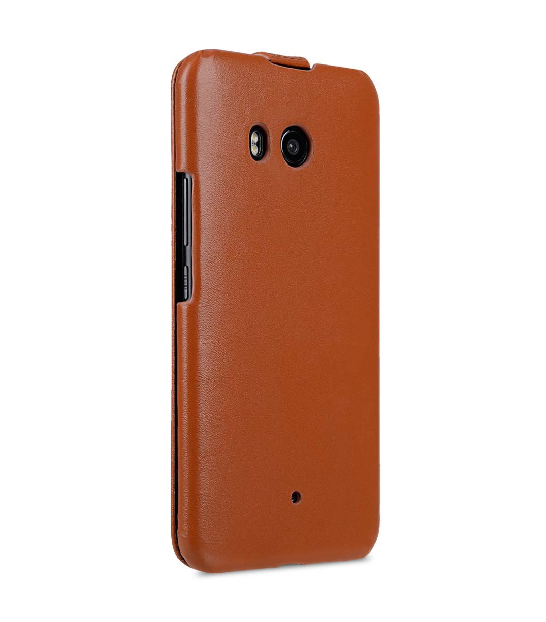 Premium Leather Case for HTC U11 - Jacka Type (Brown CH)