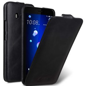 Premium Leather Case for HTC U11 - Jacka Type (Vintage Black)