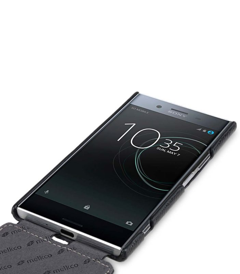 Premium Leather Case for Sony Xperia XZ Premium - Jacka Type (Black LC)