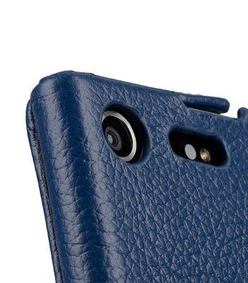 Premium Leather Case for Sony Xperia XZ Premium - Jacka Type (Dark Blue LC)