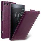 Premium Leather Case for Sony Xperia XZ Premium – Jacka Type (Purple LC)