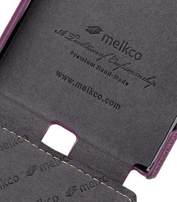 Premium Leather Case for Sony Xperia XZ Premium - Jacka Type (Purple LC)