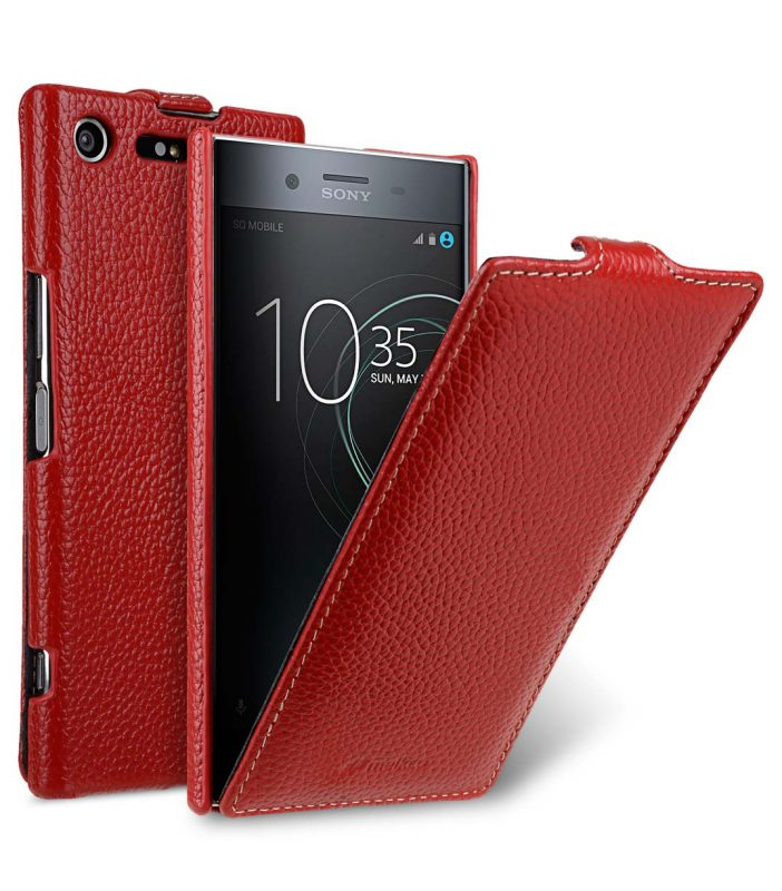 Premium Leather Case for Sony Xperia XZ Premium - Jacka Type (Red LC)
