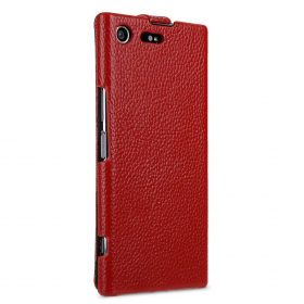 Premium Leather Case for Sony Xperia XZ Premium – Jacka Type (Red LC)