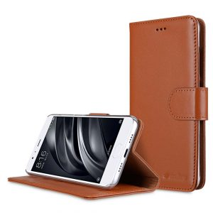 Premium Leather Case for Xiaomi Mi 6 - Wallet Book Clear Type Stand