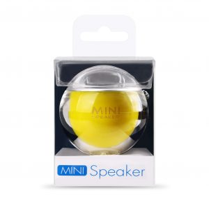 i-mee Bubble Mini Speaker (Silver/Yellow)