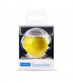 i-mee Bubble Mini Speaker (Silver/Yellow)