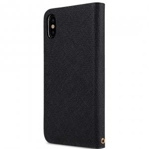 Fashion Cocktail Series Slim Flip Case for Apple iPhone X - (Black Cross Pattern)