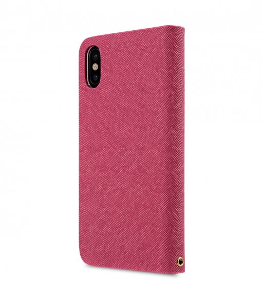 Fashion Cocktail Series Slim Flip Case for Apple iPhone X - (Peach)