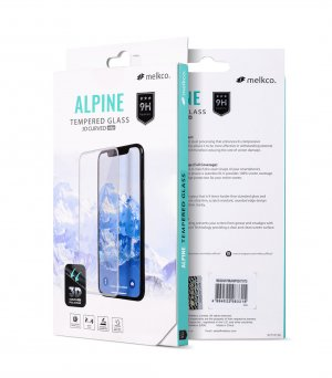 """Melkco 3D Curvy 9H Tempered Glass Screen Protector for Apple iPhone 9 (6.1"""") - ( Black )"""