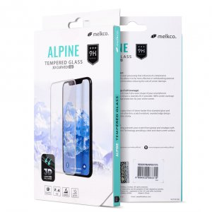 """Melkco 3D Curvy 9H Tempered Glass Screen Protector for Apple iPhone X Plus (6.5"""") - (Black)"""