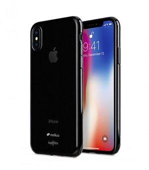 Melkco Air Superlim TPU Case for Apple iPhone X - (Transparent Grey)