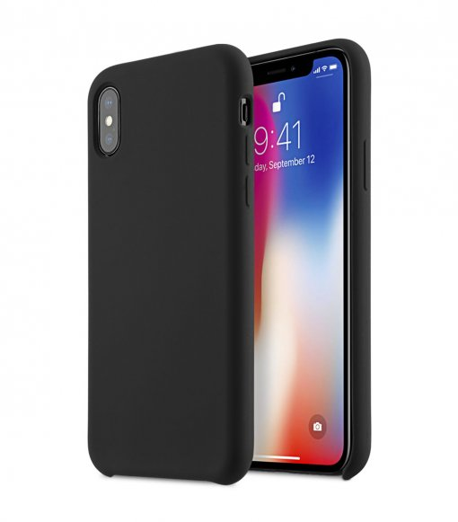 Melkco Aqua Silicone Case for Apple iPhone X - (Black)