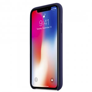 Melkco Aqua Silicone Case for Apple iPhone X - (Dark Blue)