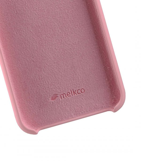Melkco Aqua Silicone Case for Apple iPhone X - (Pink)