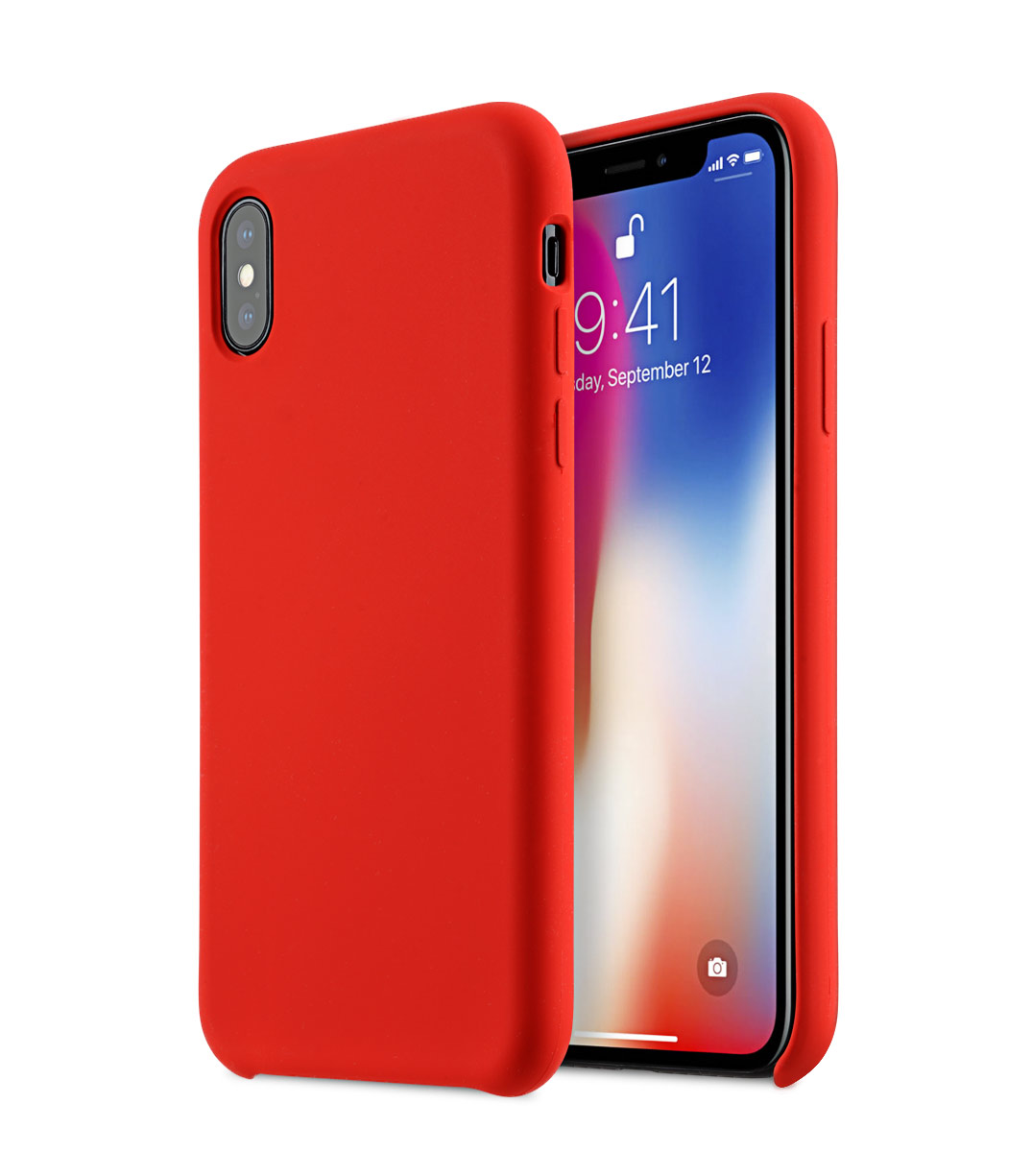 Apple iphone x silicone case product red