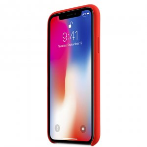 Melkco Aqua Silicone Case for Apple iPhone X - (Red)