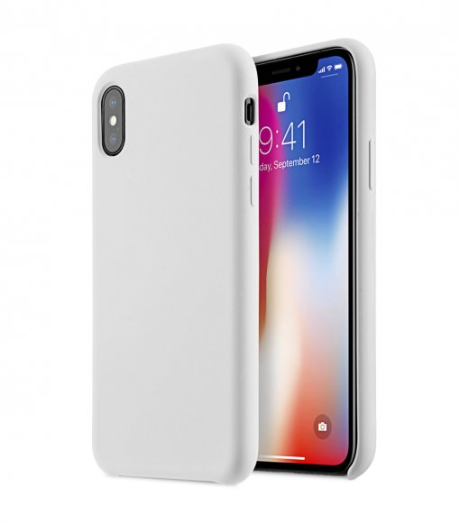Melkco Aqua Silicone Case for Apple iPhone X - (White)