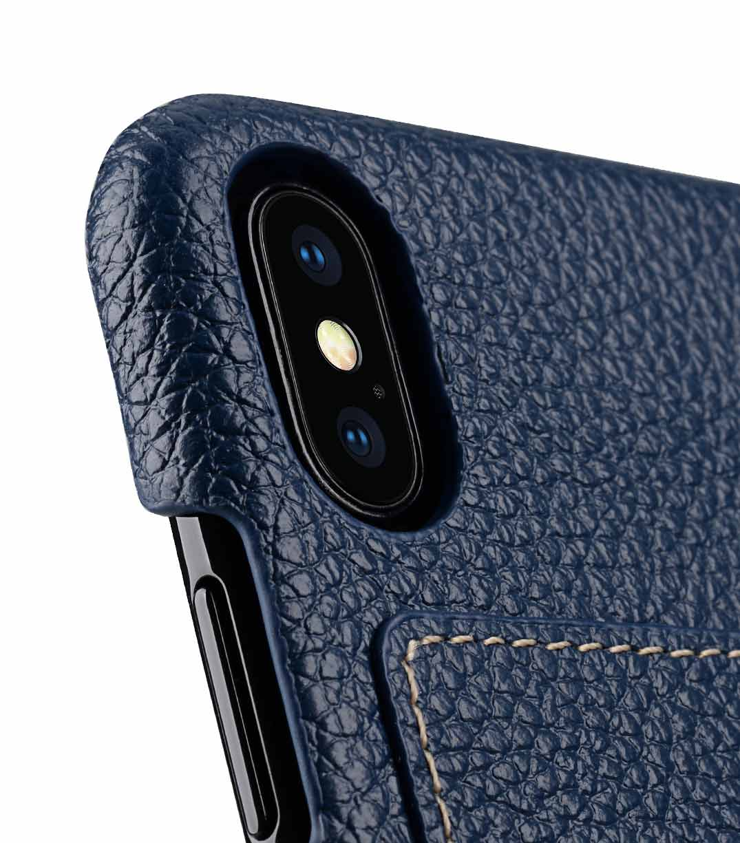 the best attitude 8dad5 40e47 Premium Leather Card Slot Back Cover Case for Apple iPhone X / XS