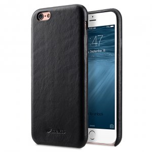 """Melkco Elite Series Waxfall Pattern Premium Leather Coaming Snap Cover Case for Apple iPhone 6s / 6 (4.7"""") - ( Black WF )"""